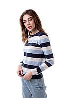 Модный полосатый джемпер в размере 44,46,48, фото 1