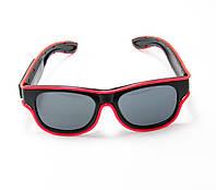 🔝 Светящиеся неоновые светодиодные LED очки, клубные, Розовые, для дискотеки и вечеринки, с доставкой   🎁%🚚