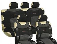 Майка сидения полный комплект серо-черный велюр Prestige MILEX 7248/4