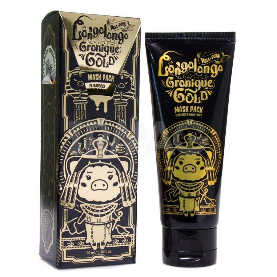 Омолаживающая золотая маска-пленка Elizavecca Hell-Pore Longolongo Gronique Gold Mask Pack