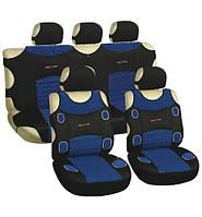 Майка сидения полный комплект сине-черный велюр Prestige MILEX 7250/3
