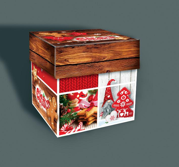 Паперова коробка подарункова 110*110 мм, 500 грам