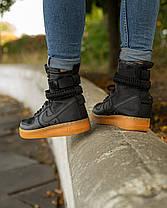 Мужские кроссовки в стиле Nike Special Field Air Force 1 Black/Gum, фото 3