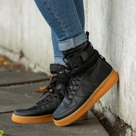 Мужские кроссовки в стиле Nike Special Field Air Force 1 Black/Gum
