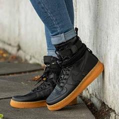 Мужские кроссовки в стиле Nike Special Field Air Force 1 Black/Gum (41 размер)