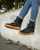 Мужские кроссовки в стиле Nike Special Field Air Force 1 Black/Gum, фото 2