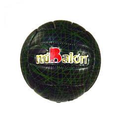 """Мяч волейбольный """"miBalon""""  (черно-зеленый)  sco"""