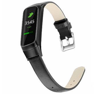 Кожаный ремешок Primo для фитнес браслета Samsung Galaxy Fit E ( SM-R375 ) - Black