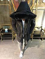 Чоловіча зимова парка Open 3028 black, фото 1