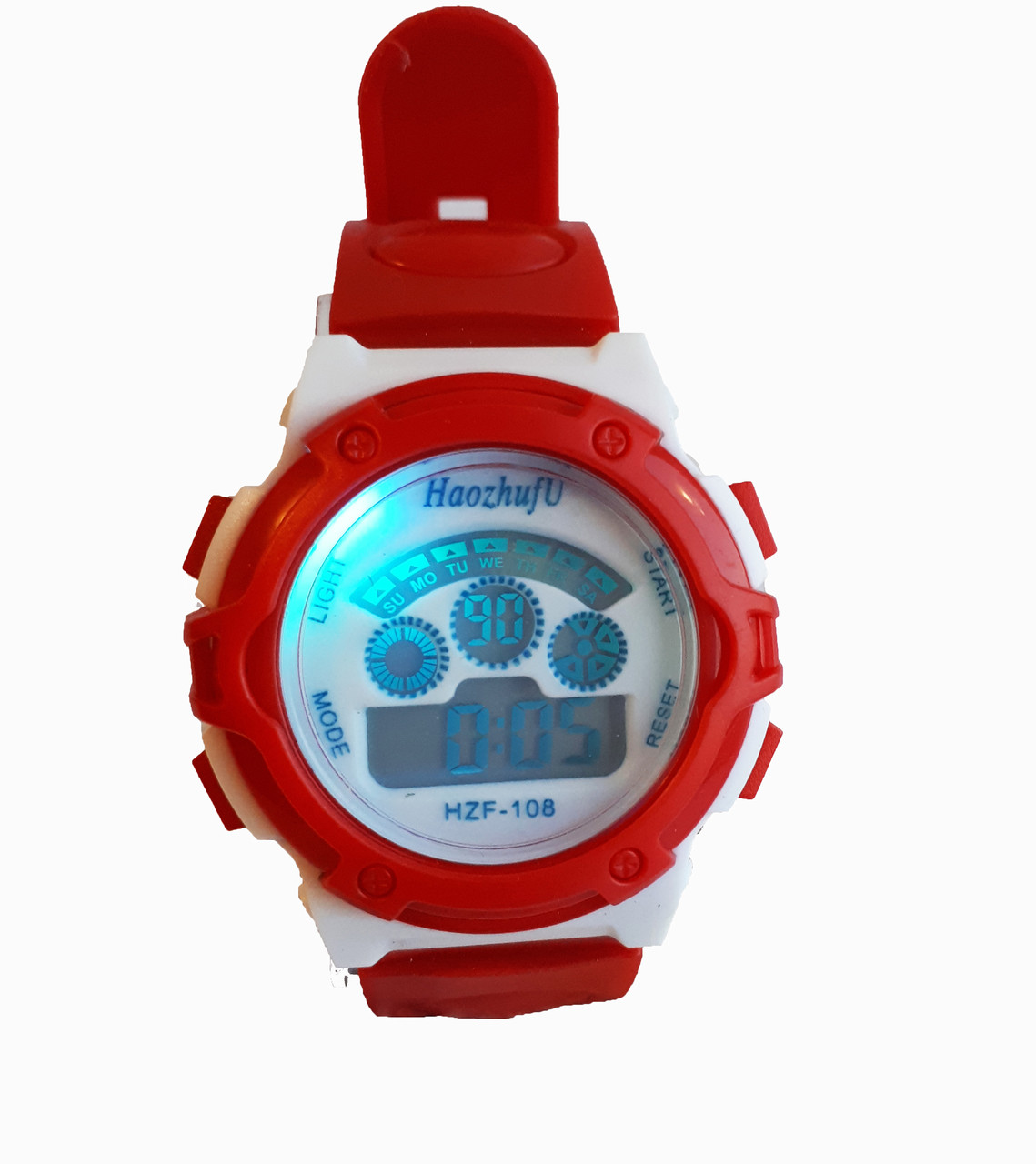 Часы детские Rounds  электронные в колбах. Красный