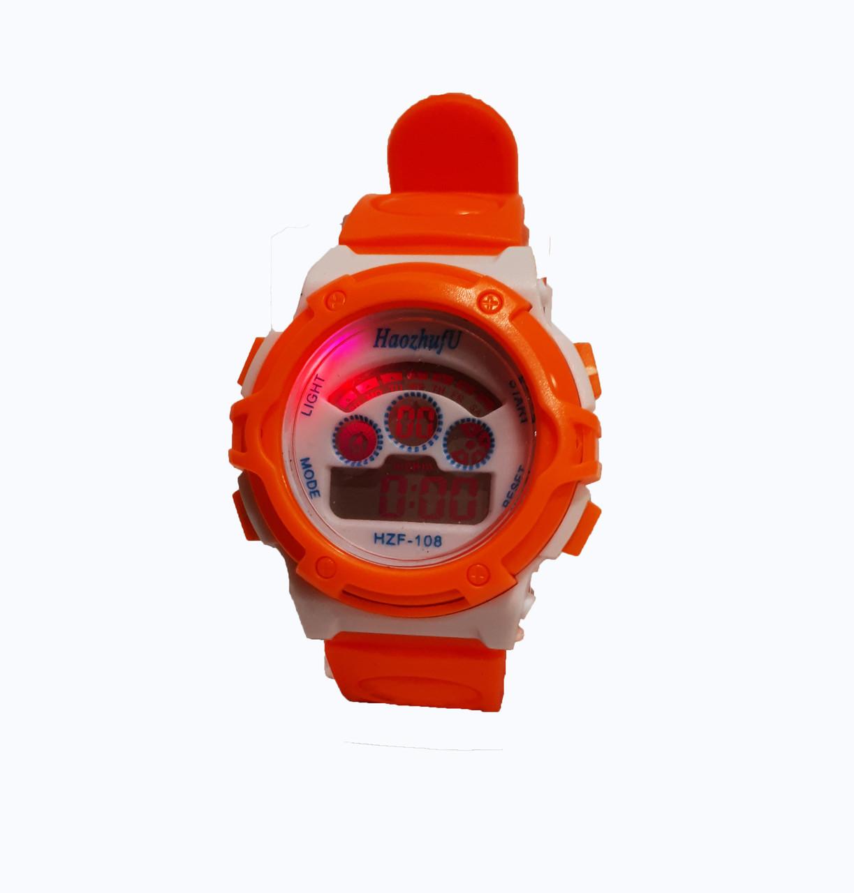 Часы детские Rounds  электронные в колбах. Оранжевый