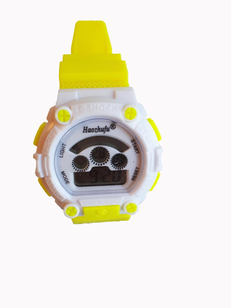 Часы детские Rounds  электронные в колбах желтый.