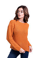 Джемпер с рельефным узором оранжевого цвета