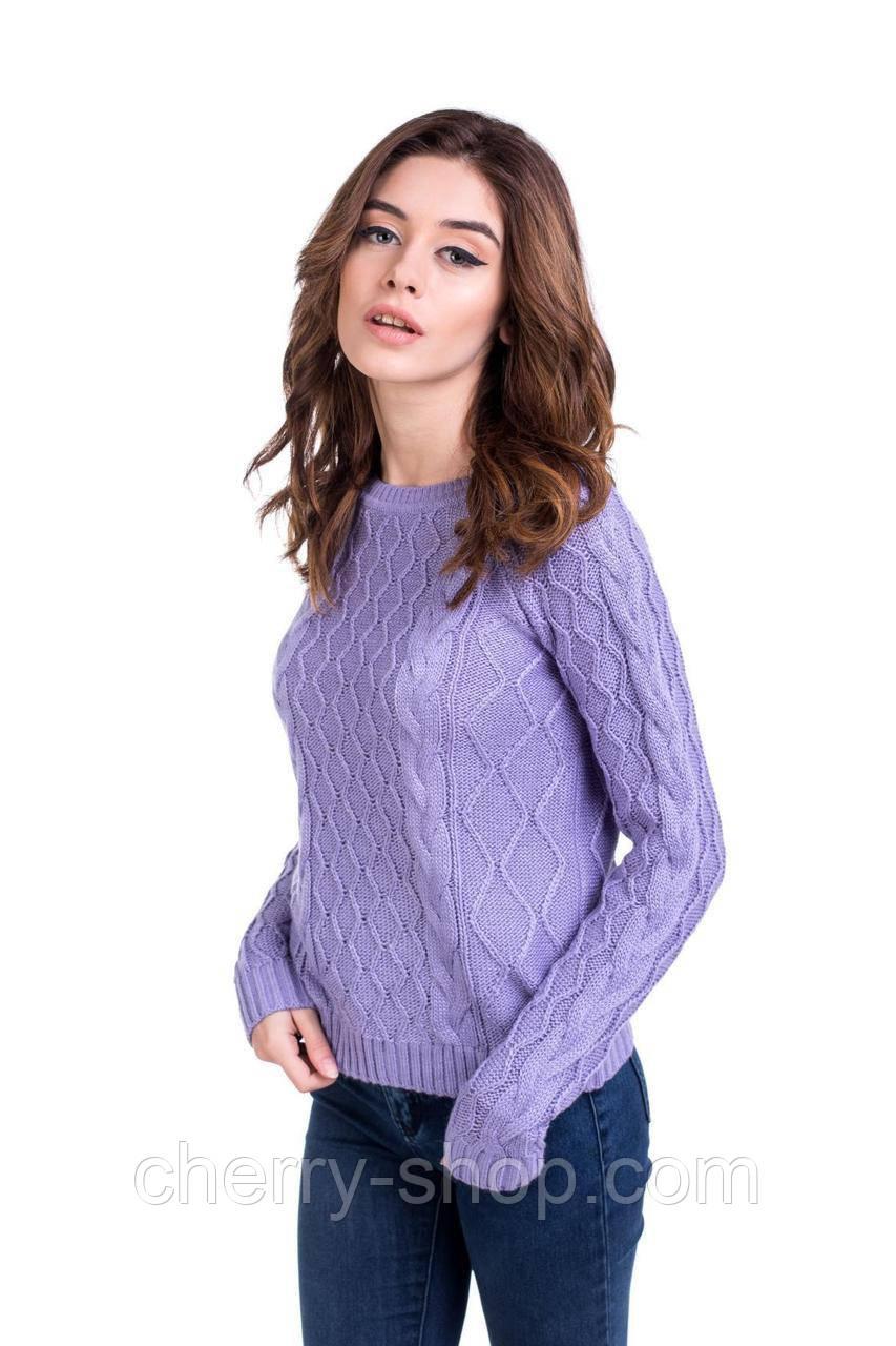 Модный свитер с аранами в размере 44,46,48