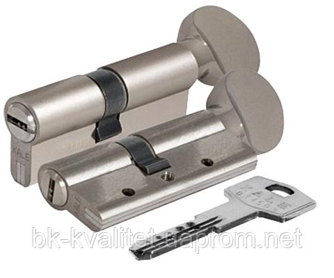 Цилиндр KALE 164 DBNEМ тумблер, никель, повышенной секретности с защитой излома и вырывания. 100 (50х50)