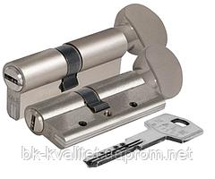 Цилиндр KALE 164 DBNEМ 100 (50х50Т) тумблер, никель, повышенной секретности с защитой излома и вырывания