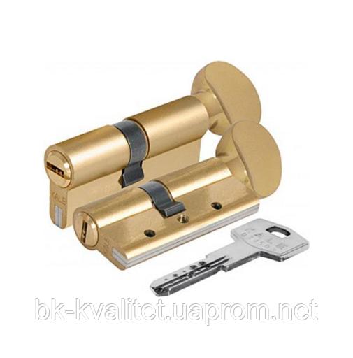 Цилиндр KALE 164 DBNEМ 90 (45х45Т) тумблер, латунь, повышенной секретности с защитой излома и вырывания
