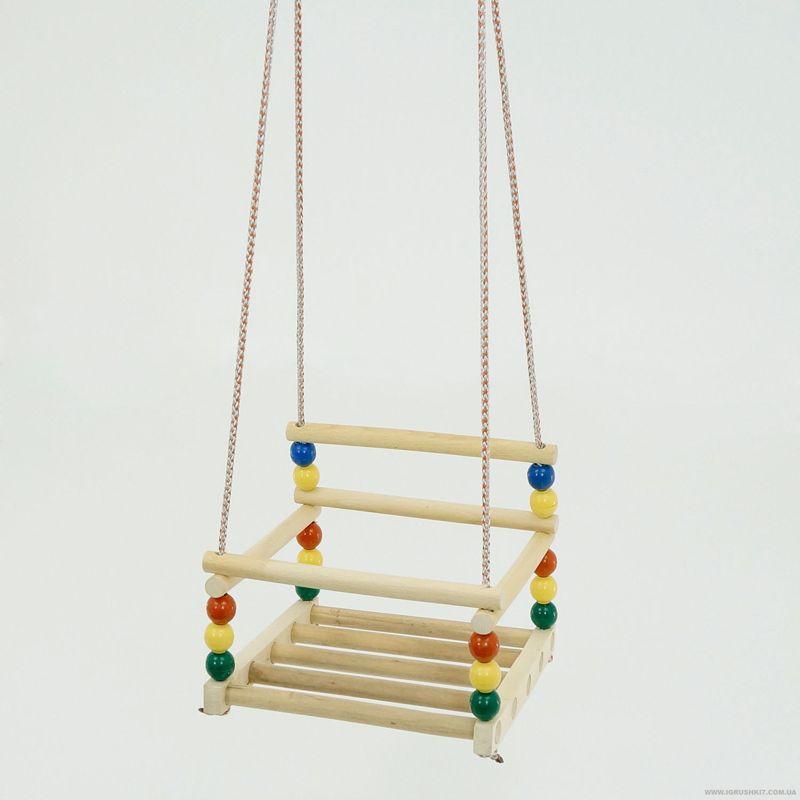 Гр Качели подвесные 113 (14) пластик-дерево бук