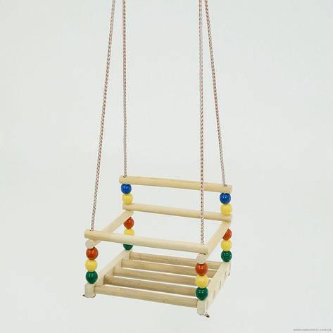 Гр Качели подвесные 113 (14) пластик-дерево бук, фото 2