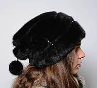 Норковая шапка женская Буратино, фото 1