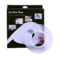 Универсальная двухсторонняя клейкая лента 5 метров Ivy Grip Tape Сверхсильный многоразовый крепежный скотч