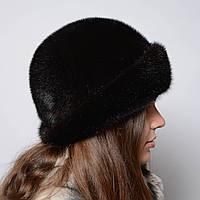 "Женская норковая шляпа ""Шляпа-пряжка"""
