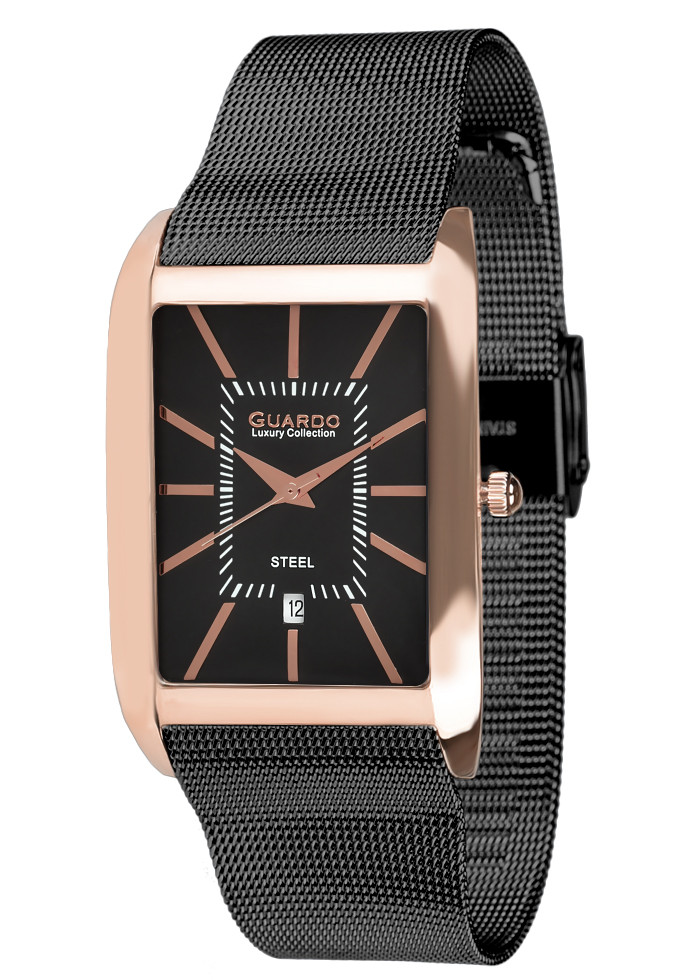 Часы мужские Guardo S01969-4 золотые