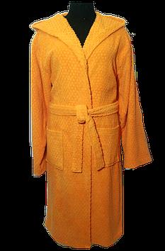 Женский махровый халат с капюшоном , 100% Хлопок  Турция