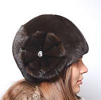 Женская норковая шапка Шарик Две Ромашки, фото 1