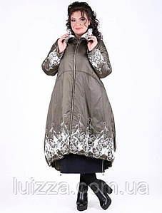 Турецкое зимнее пальто Pompandur 52 54 56 рр олива