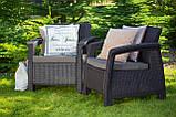 Набор садовой мебели Corfu Fiesta Lyon Table Rattan Brown ( коричневый ) из искусственного ротанга ( Keter ), фото 6