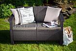 Набор садовой мебели Corfu Fiesta Lyon Table Rattan Brown ( коричневый ) из искусственного ротанга ( Keter ), фото 8