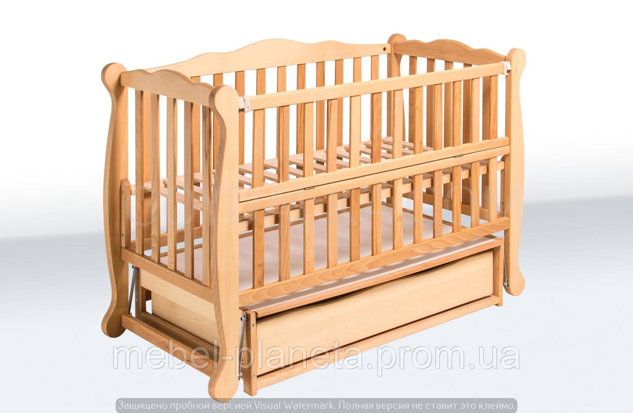 Кровать «NATALI Натали» на подшипниках с откидной боковиной (600 * 1200) (БУК)