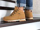Зимние ботинки в стиле Timberland, тимберленд (зима утепленная мехом, кожа нубук, горчичные), фото 3