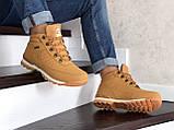 Зимние ботинки в стиле Timberland, тимберленд (зима утепленная мехом, кожа нубук, горчичные), фото 4