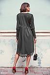 Асимметричное платье свободного кроя с кружевом, фото 3