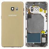 Корпус для смартфону Samsung G928F Galaxy S6 EDGE Plus, золотистий