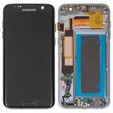 Дисплей модуль Samsung G935F Galaxy S7 EDGE в зборі з тачскріном, з рамкою, чорний, OLED