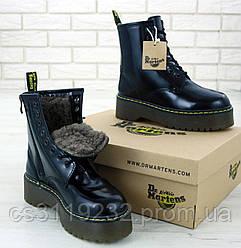 Женские ботинки зимние Dr.Martens JADON (мех) (черный)