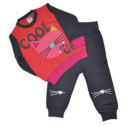 """Детский костюм""""кошка"""", на байке,  для девочек 6-24 мес.(4 ед в уп)"""