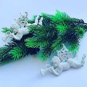 Новогоднее украшение - «Ангелочек белый» ( 2 шт ), фото 2