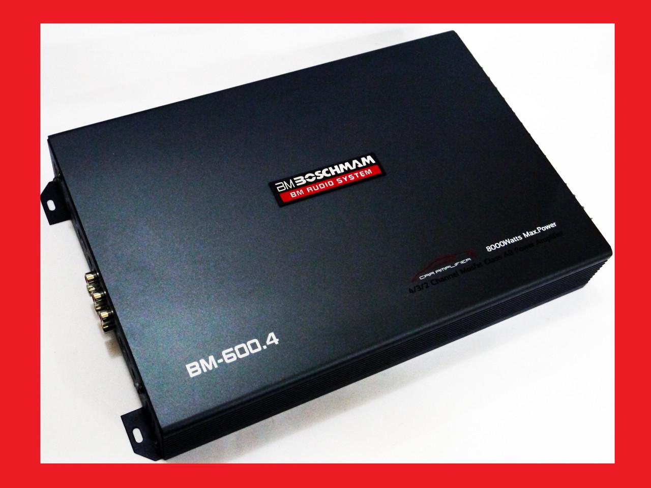 Автомобільний підсилювач звуку Boschman BM Audio BM-600.4 4-х канальний