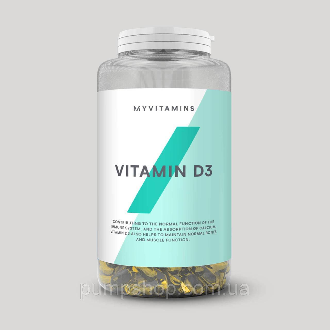 Витамин D3 Myprotein Vitamin D3 2500ME 360 капсул