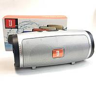 Портативная колонка bluetooth акустика блютуз для телефона мини с флешкой серая mini1+