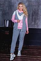 """Женский утеплённый спортивный костюм тройка больших размеров """" Кофта, жилетка и штаны """" Dress Code, фото 1"""