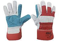 Перчатки краги спилковые комбинированные, фото 1