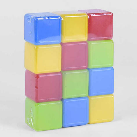 """Гр Кубики цветные 12 шт. (24) 05062 """"M-TOYS"""", фото 2"""