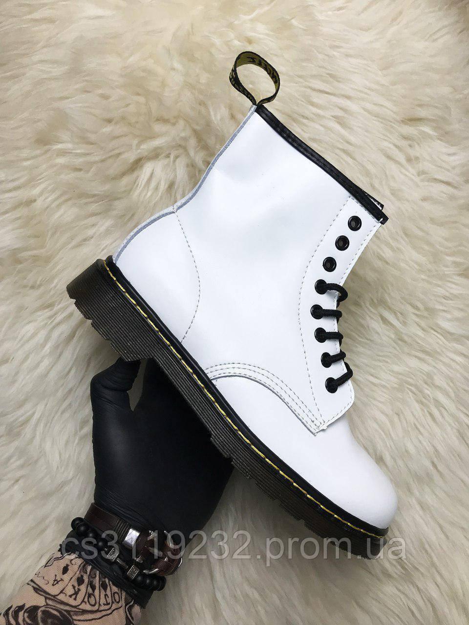 Женские ботинки Dr Martens 1460 демисезонные (белый)