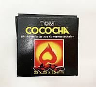 Уголь для кальяна Tom Cococha Yellow (кокосовый), 2,5 куб (8 кубиков)
