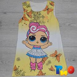 Детское модное платье из трикотажа, для девочек 2-8 лет (4 ед в уп)